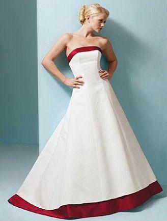 Abiti da sposa rossi e bianchi