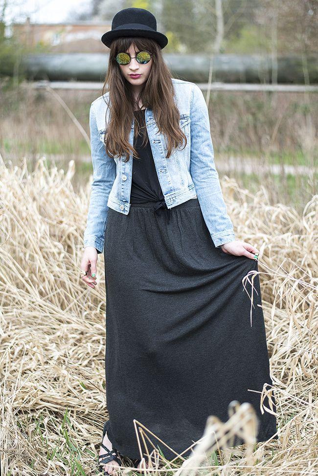 Hippie Sommer Outfit mit Maxirock
