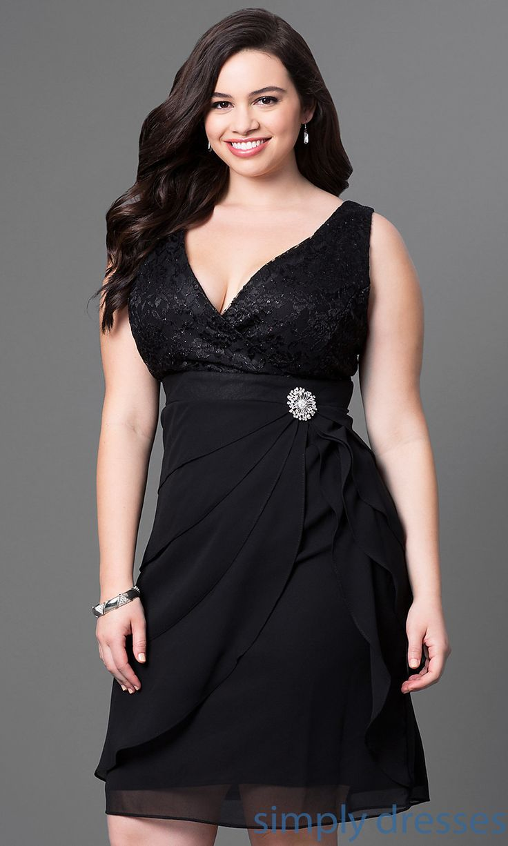 Shop short rose pink plussize party dresses at Simply