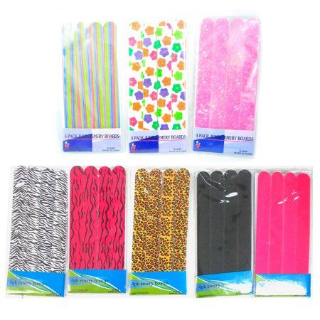 12 Double Sided Nail File Manicure Pedicure Emery Boards Slumber Party Favor New - Walmart.com