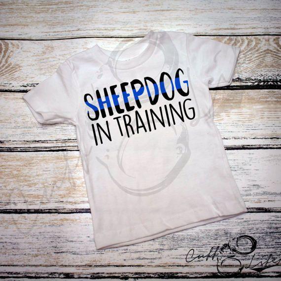 Sheepdog In Training Shirt / Kids Police Shirt by CuffLifeBoutique