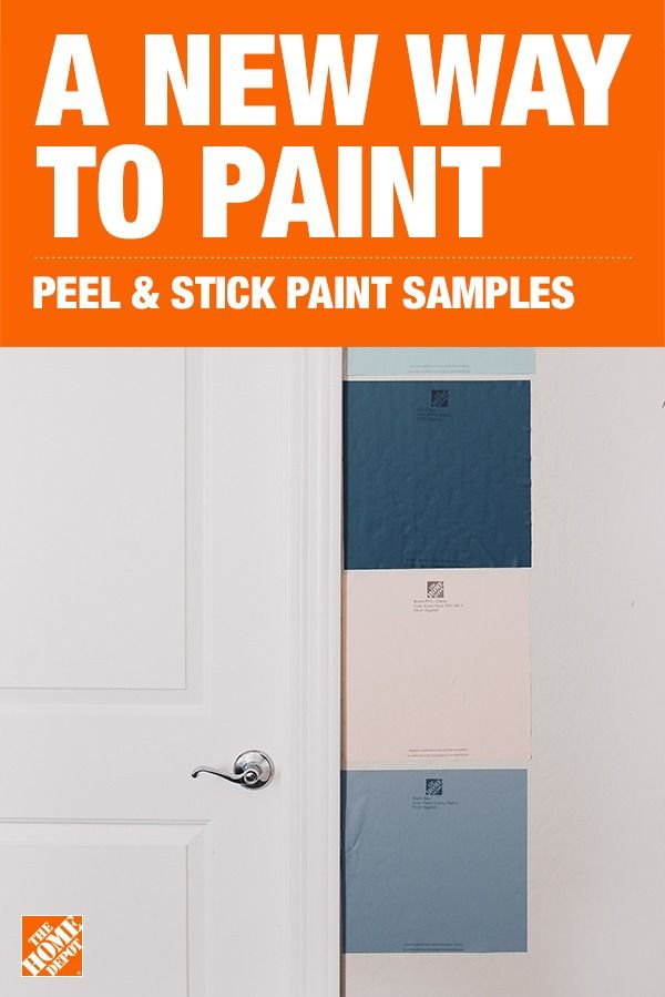 Explore An Easier More Innovative Way To Sample Paint With Peel Stick Paint Sample Kits Paint Samples Home Depot Paint Paint Colors For Living Room