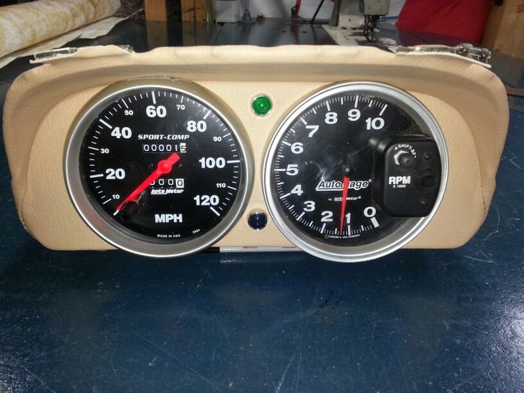 Instrument cluster from the Rx-7.  Large tacho and speedo only just squeeze in there.