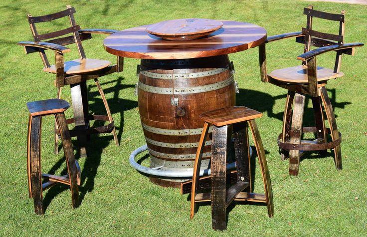 59 Best Wine Barrel Furnishings Images On Pinterest
