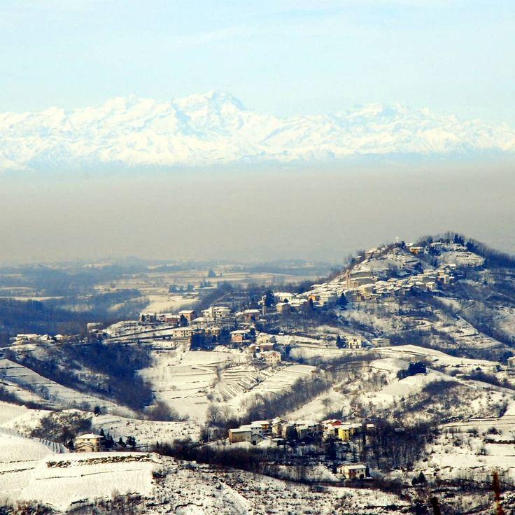 La Grande Bellezza. #neve #montagne #mountains #territorio #piemonte #igersitalia #igpiemonte #snowlandscape #winter #italia #italy #gavi #wineland #winelover #winepeople