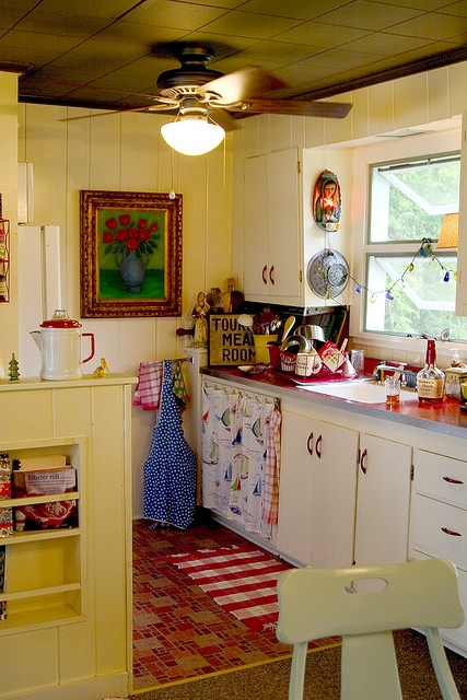Red And Yellow Kitchen Decor Nautical Beach