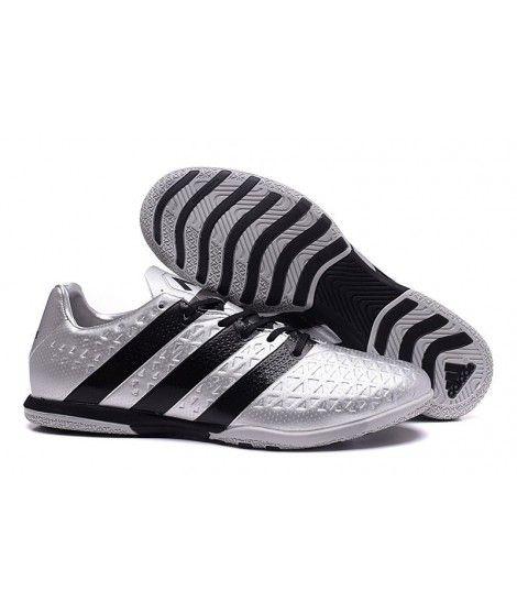 Adidas ACE 16.3 IN IC TIL INNENDØRS BRUK Fotballsko Sølv Svart