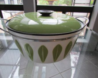 Vintage Catherine Holm Dutch Oven Norway Enamel Cookware Mid Century