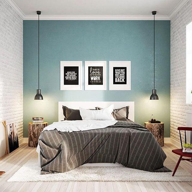M s de 25 ideas fant sticas sobre pintar paredes en - Pintar pared dormitorio ...