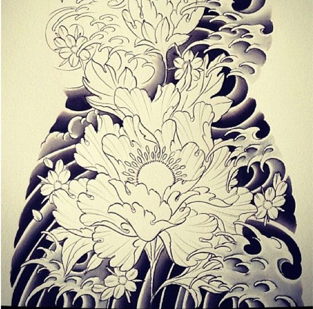 41 best images about water and wind bar on pinterest for Japanese wave and flower tattoo