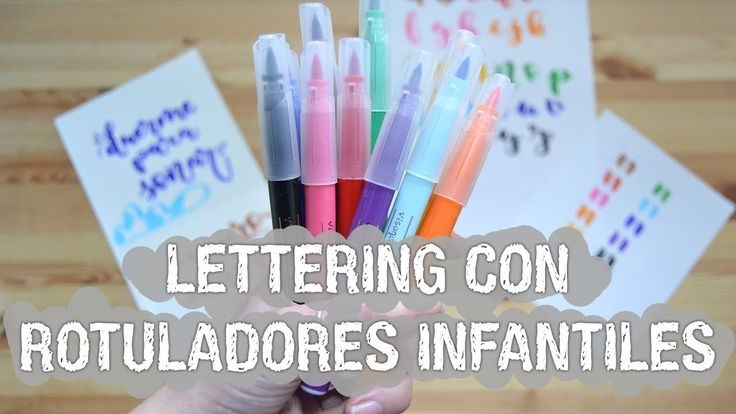 Lettering con rotuladores infantiles - BIC Visaquarelle - UGDT