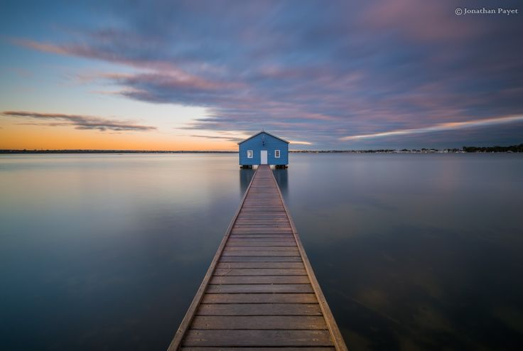 Crawley Boat shed in Perth, Australia