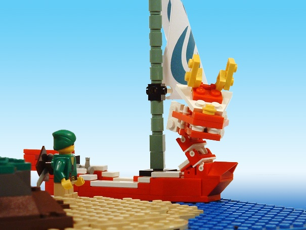 Lego Zelda Wind Waker  Link and King of Red Lions