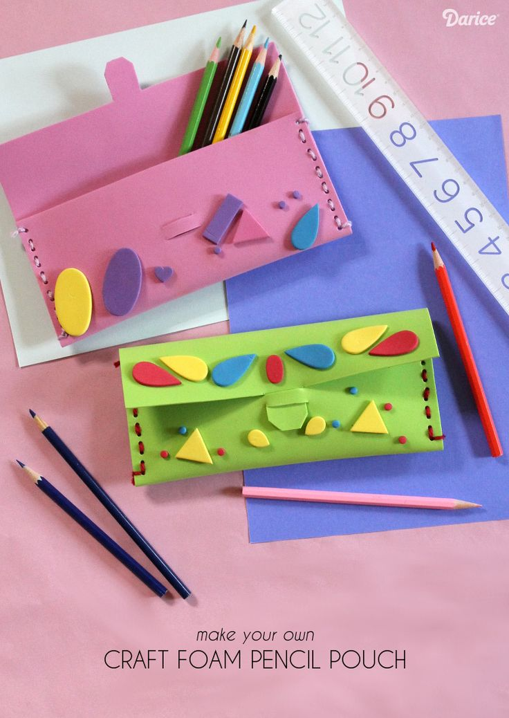 This simple foam DIY pencil case is endlessly customizable and kids can make them on their own with a little help from an adult. Learn how!