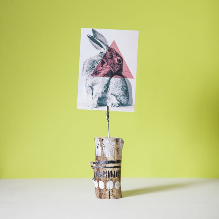 DIY-Idee: Fotohalter aus Holz mit Metallklammer selbermachen