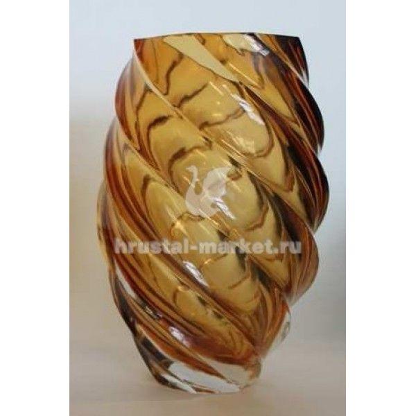 Хрустальная ваза для цветов Карамель Гусь-Хрустальный. Купить в интернет-магазине по цене завода в Москве.