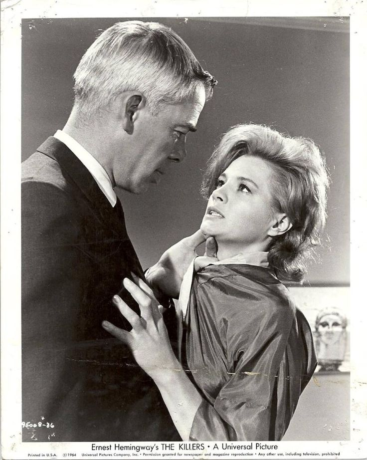 """Lee Marvin and Angie Dickinson in """"The Killers"""" (Don Siegel, 1964)"""
