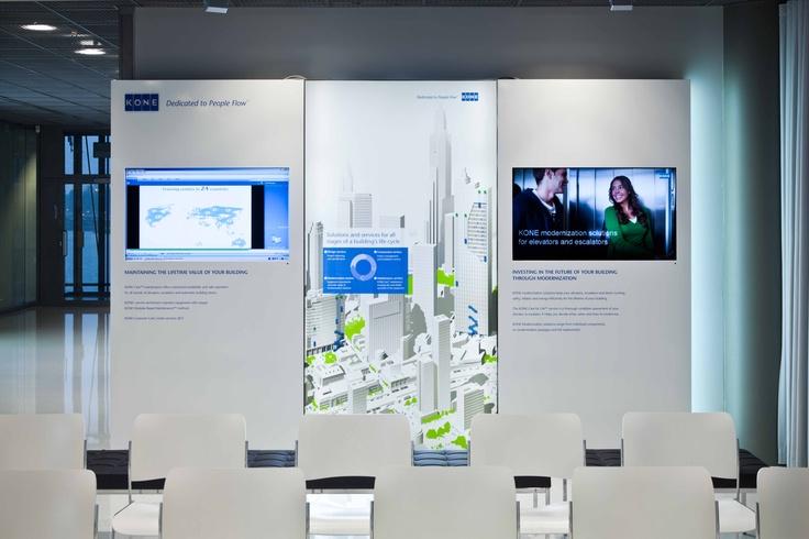KONE customer visit experience by Pentagon Design