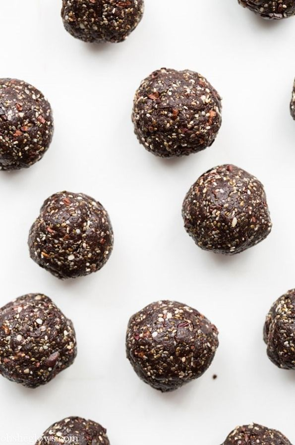 Super Seed Chocolate Protein Bites — Oh She Glows - One of the best vegan recipe blogs out there.