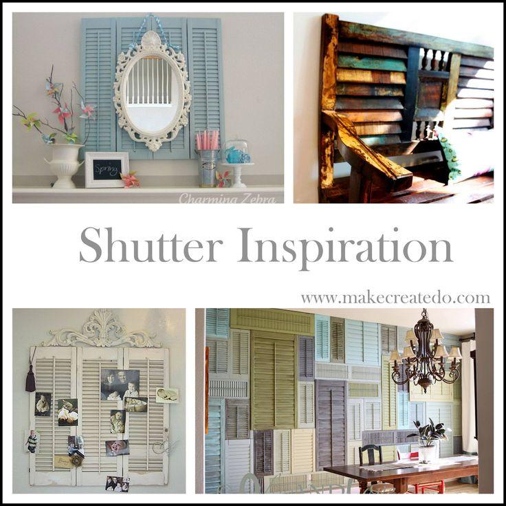 old shutters ideas recycle home decor pinterest