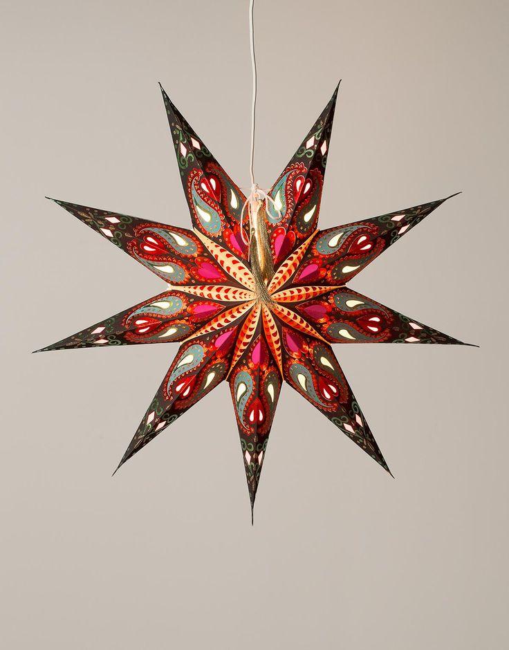 MAGIC STAR adventsstjärna julstjärna svart