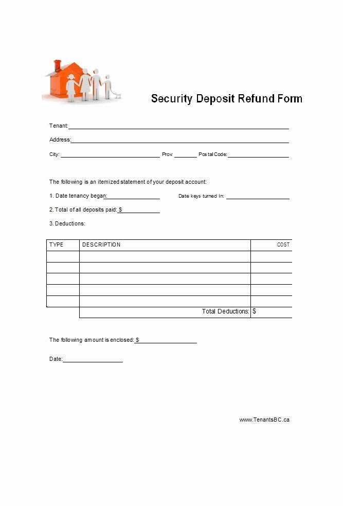 Security Deposit Return Form Template Best Of 50 Effective Security Deposit Return Letters Ms Word Templates Form Ms Word