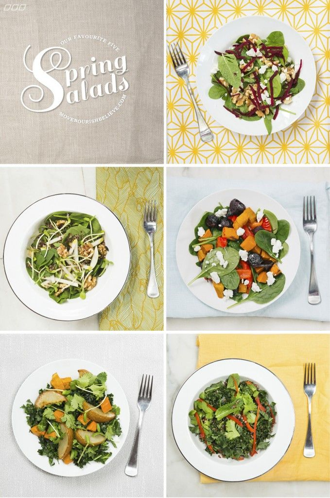 5 Spring Salads For The Busy Sporty Sister | Move Nourish Believe