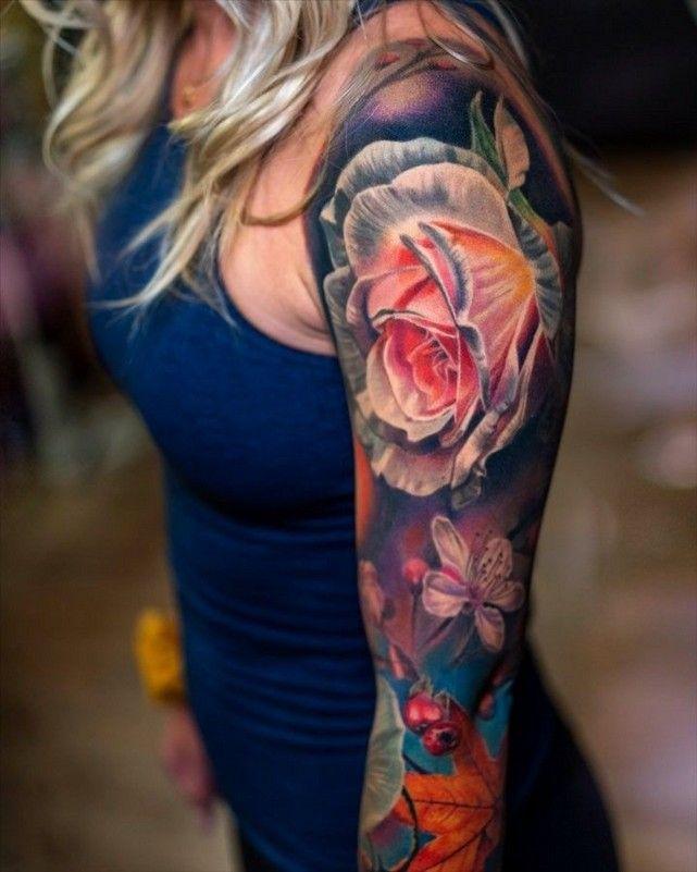 Sleeve Tattoos For Women Full Color 46 Www Shucanpharmchem Com Floral Tattoo Sleeve Sleeve Tattoos For Women Sleeve Tattoos