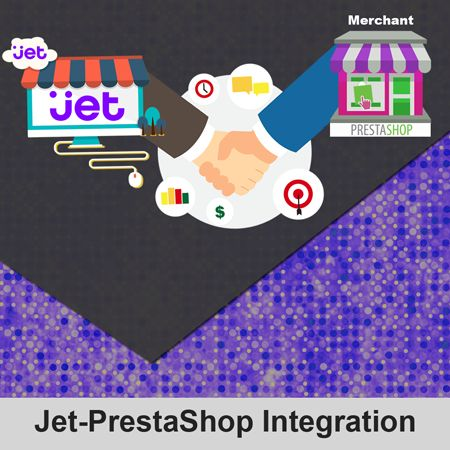 Jet-PrestaShop Integration creates synchronization of inventory, price, other product details for product creation and its management between PrestaShop store and Jet.com. The smooth harmonization is established with help of Jet.com REST API. 1. User friendly interface delivers bulk management (product upload, product close, product open). 2. Map single PrestaShop store to Jet.com with single Fulfillment node. 3. Import Jet.com orders to convert it into regular PrestaShop Orders & Shipments.