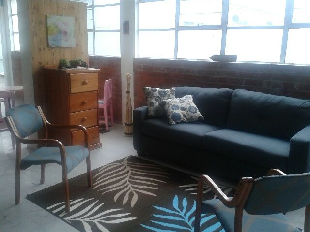 Parent's Living room.