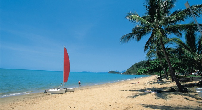 I have had so many fun times here.  Trinity Beach, just north of Cairns, Queensland, Australia