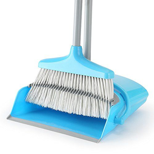 Broom and Dustpan Set /Dust Pan Standing Upright Sweep Set for Home Office Commercial Hardwood Floor Use(Blue) - This Broom and Dustpan Sweep Set is Perfect for Any Sweeping Task,Easy Assembling it features a powder-coated steel handle for a firm grip.Made of Brand New ABS material,Sturdy and Durable for Home Office Commercial use.Good Choice of present to your friend who move to new house,office or ...