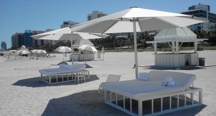 Tempest Commercial Umbrella - White