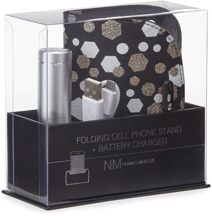 Neiman Marcus Folding Cell Phone Stand & Battery Charger