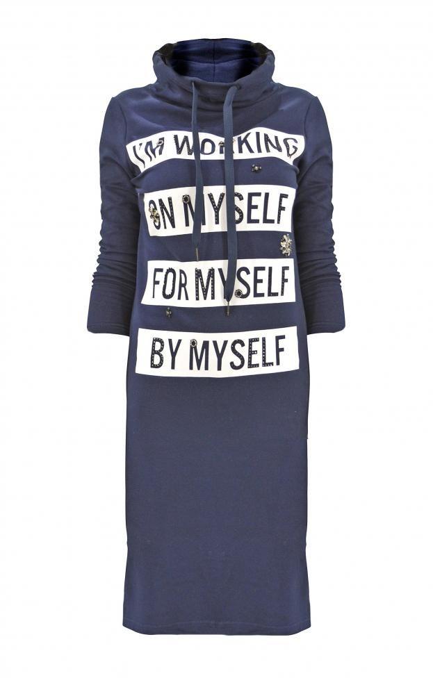 Γυναικείο φόρεμα φούτερ μακρύ  FORE-2251