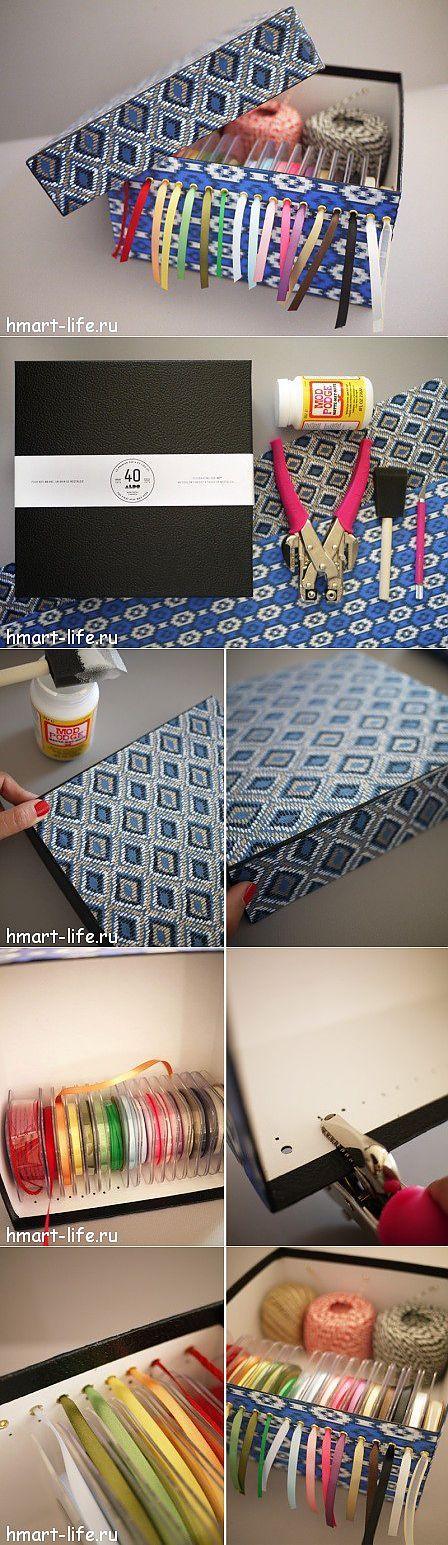 Коробка для хранения лент | Hand Made Art