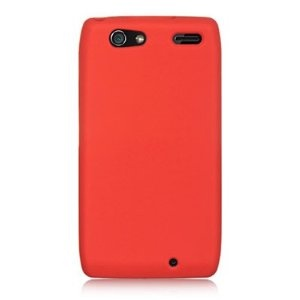 WIRELESS CENTRAL Brand Silicone Gel Skin RED Sleeve Rubber Soft Cover Case for MOTOROLA XT913 / XT916 DROID RAZR MAXX [WCC287] (Wireless Phone Accessory)