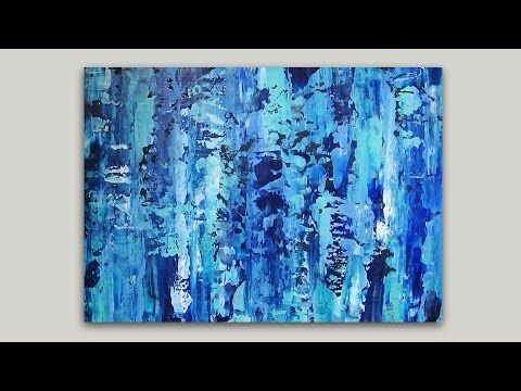 Abstract Painting in Acrylics | Smearing Paint with a Palette Knife
