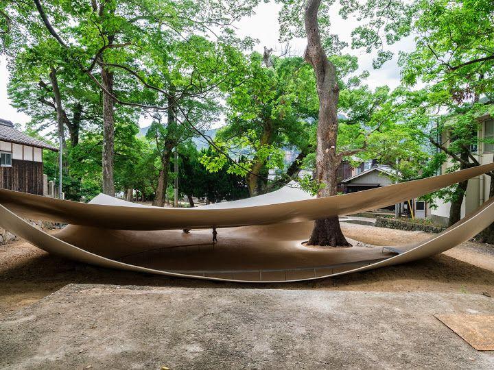 Ryuei Nishizawa's Fukita Pavilion   a shrine made from 2 sheets of metal