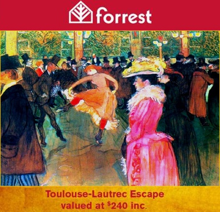 How to WIN our OFFER of Toulouse-Lautrec Escape VALUED at $240, including accommodation, breakfast, ticket to the exhibition, and much more?    That's easy. Just LIKE our page and SHARE this post. Why don't you try your luck?    One prize to be won every month till the end of March. We will announce the winner on the 25th of each month. @National Gallery of Australia, @Canberra CBD, @Australian Explorer, @Australian Capital Tourism, @Affordable Holidays