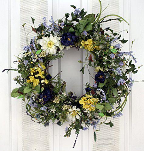 Summertime Blues Decorative Door Wreath Wreaths For Door http://www.amazon.com/dp/B01AYASGO2/ref=cm_sw_r_pi_dp_8jMOwb1Y635E1