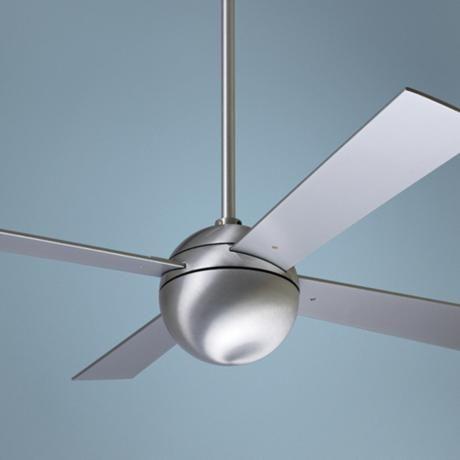 "42"" modern brushed aluminum ball ceiling fan"