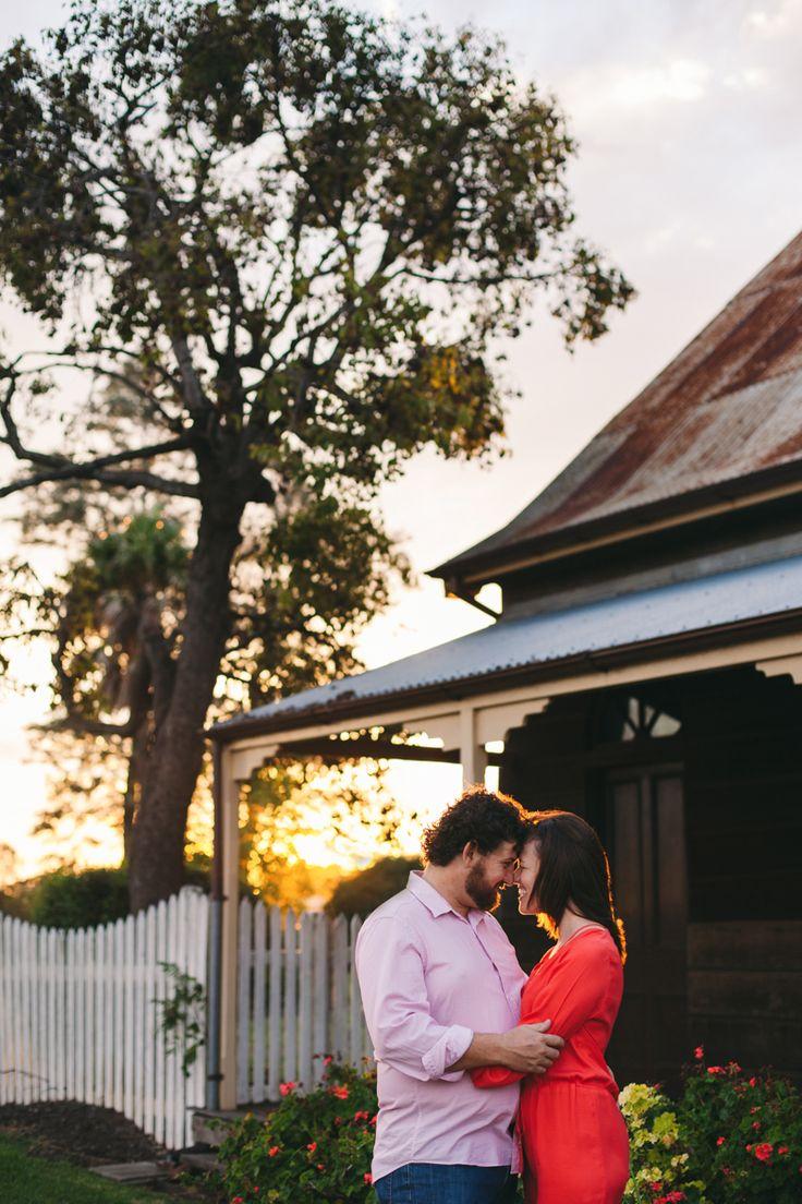 The Royal Bulls Head Inn. Sunset. Couple portrait.