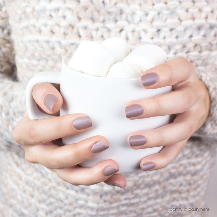 Warm up with this 'comfy in cashmere' mani.