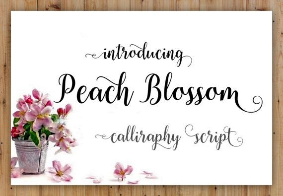 Calligraphy Font Digital Download by ThePrintablesWorld on Etsy