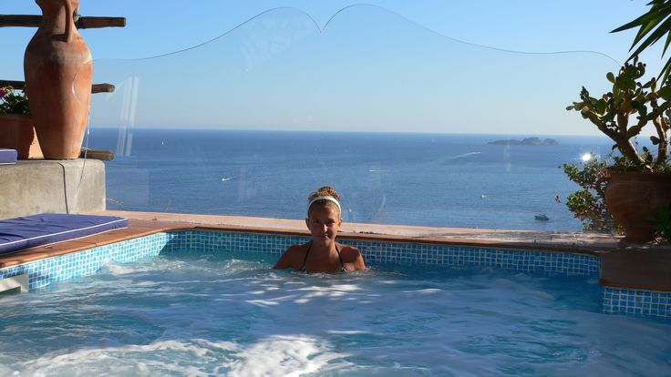 Our pool with view at the Honeymoon suite...