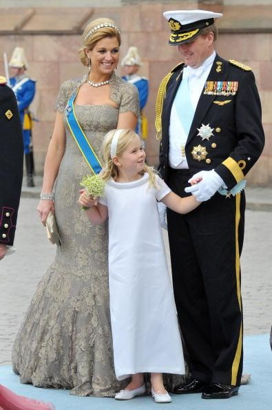 Crown Prince Willem-Alexander and Crown Princess Maxima with their eldest child Catharina-Amalia