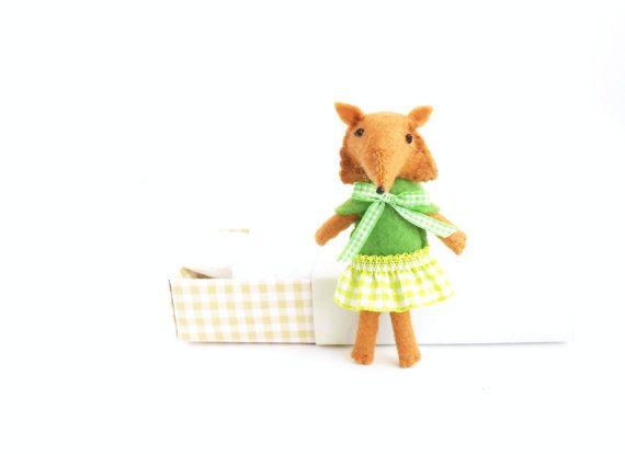 Matilde the fox felt stuffed animals on Etsy, $28.27