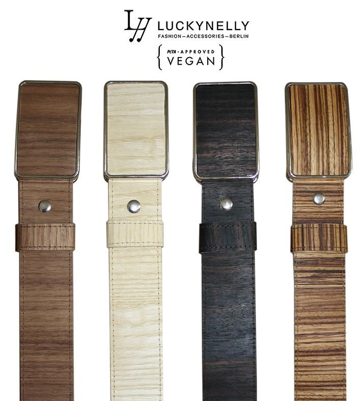 New Unisex Wood Belts in production - made of real sewn Walnut Wood /White Ash/Ebony Makassar/Zebrawood  #vegan