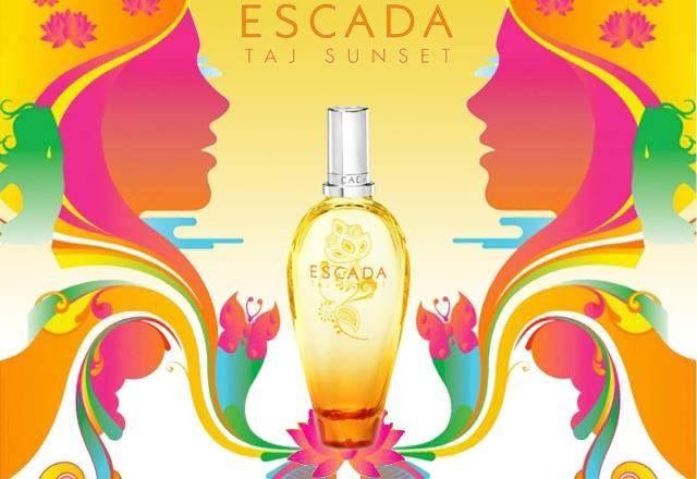 Taj Sunset: fehér homokos tengerpart, naplemente a pálmafák árnyékában, tánc a lágy szellővel. Az Escada vibráló, limitált nyári illata az édes, gyümölcsös parfüm kedvelőknek. A mangó és a bársonyos kókusz egybefonódva tökéletesen testesíti meg az izgalmas, kalandos nyarat.